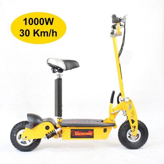 trottinette electrique adulte 1000w jaune achat vente trottinette electrique trotti. Black Bedroom Furniture Sets. Home Design Ideas