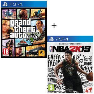 JEU PS4 NBA 2K19 + GTA V - Jeux PS4
