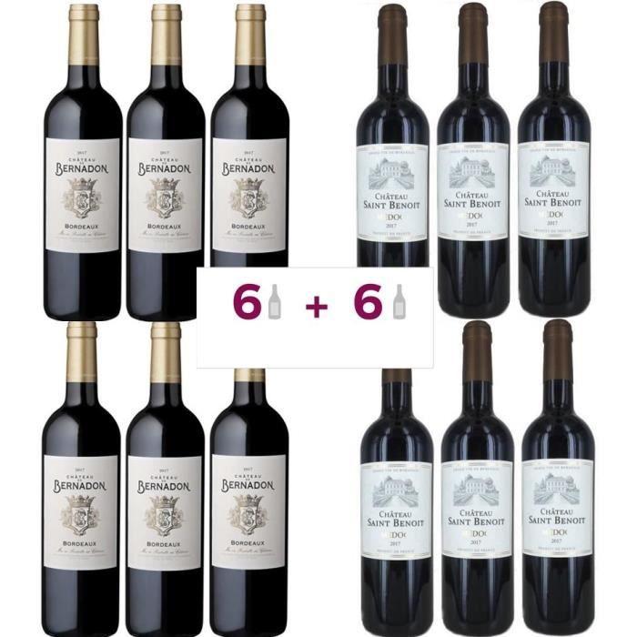 VIN ROUGE 6 Château De Bernandon 2017 Bordeaux ACHETEES = 6