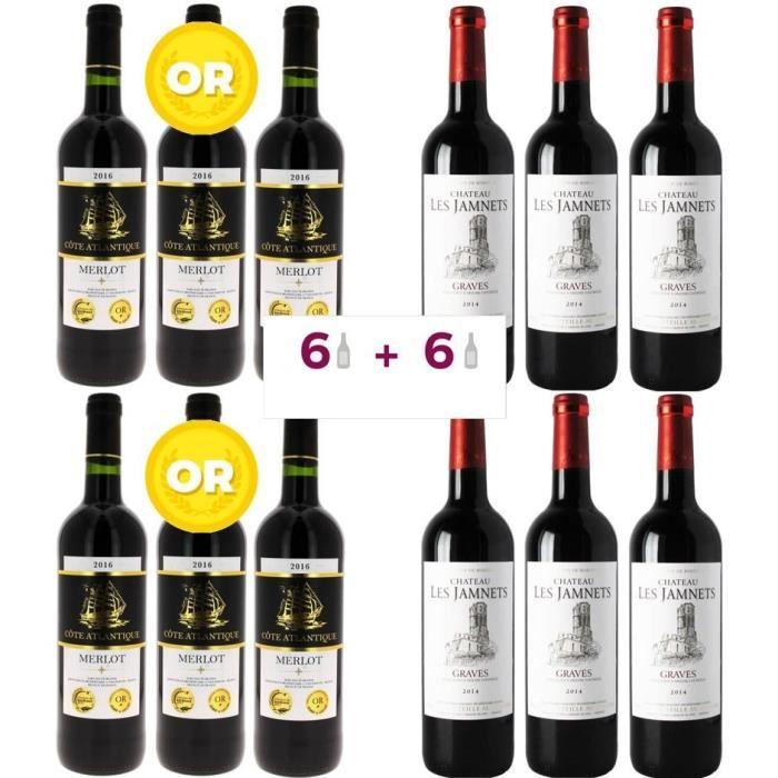 VIN ROUGE 6 Côte Atlantique 2016 Vin de Pays de l'Atlantique
