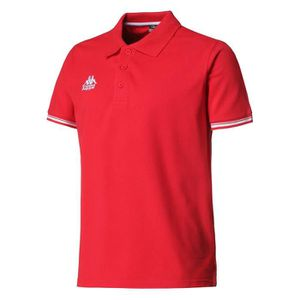 POLO KAPPA Polo Manches Courtes - Homme - Rouge