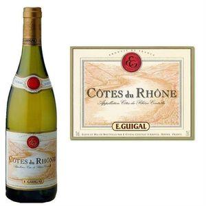 VIN BLANC Guigal Côtes du Rhône Blanc 2015 vin blanc x6