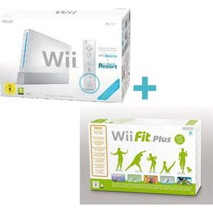 CONSOLE WII Wii Sports Resort Pack Blanc+Wii FIT PLUS+Balance