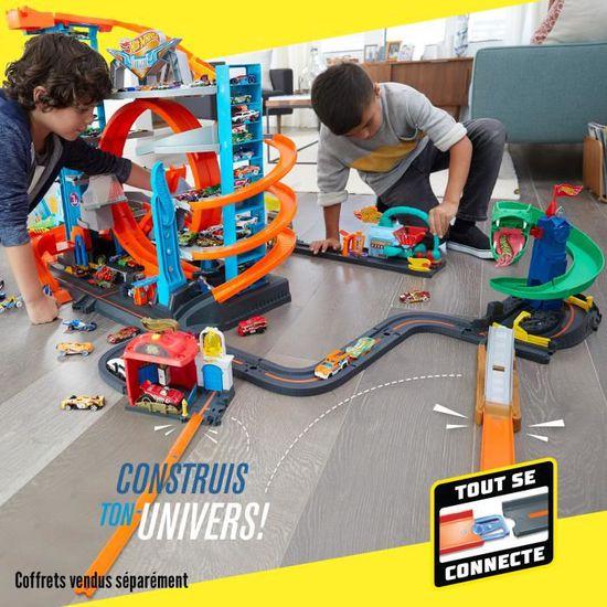 Hot Wheels Mega Garage Avec Une Voiture Inclus Piste Mattel