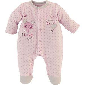 PYJAMA Pyjama bébé Fille SUCRE D'ORGE - Velours Rose I lo