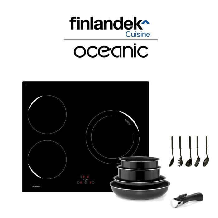 pack : table de cuisson à induction + batterie de cuisine 10