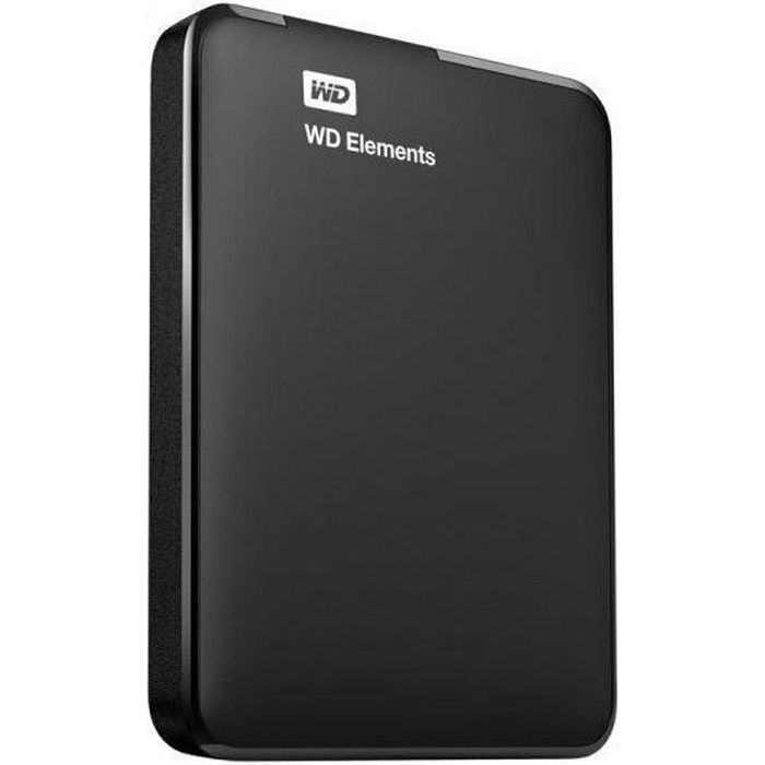 western digital disque dur externe elements 1to 2 5 noir prix pas cher cdiscount. Black Bedroom Furniture Sets. Home Design Ideas