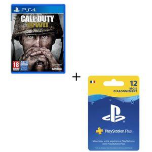 JEU PS4 Call of Duty World War II + Abonnement PlayStation