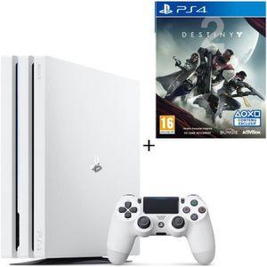 CONSOLE PS4 NOUVEAUTÉ PS4 Pro Blanche 1 To + Destiny 2 Jeu PS4