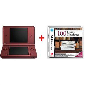 CONSOLE DS LITE - DSI Console DSi XL Bordeaux + le jeu 100 Livres Classi