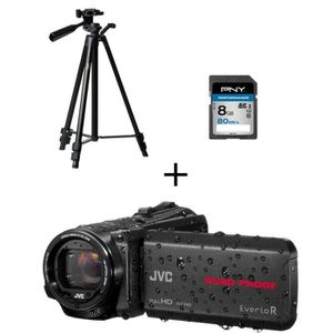 PACK CAMERA NUMERIQUE Caméscope numérique JVC GZ-R430B Full HD Tout-terr