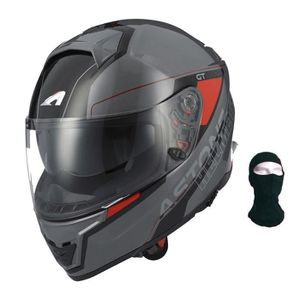 CASQUE MOTO SCOOTER ASTONE Casque Intégral GT1000F Gamatron + Cagoule