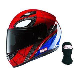 CASQUE MOTO SCOOTER HJC Casque Intégral CS-15 Spiderman avec Cagoule