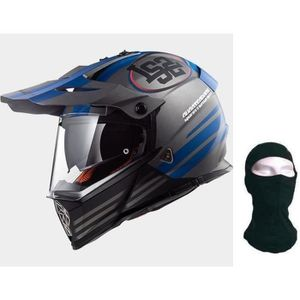 CASQUE MOTO SCOOTER LS2 Casque cross Pioneer MX436 Quaterback + Cagoul