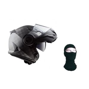 CASQUE MOTO SCOOTER LS2 Casque modulable Vortex + Cagoule - Carbone ma