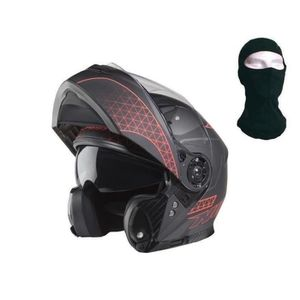 CASQUE MOTO SCOOTER NOX Casque modulable N965 Rays  - Orange + cagoule