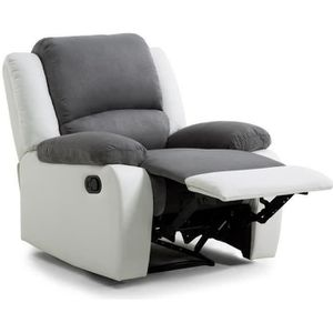 FAUTEUIL RELAX Fauteuil relaxation - Simili et tissu blanc