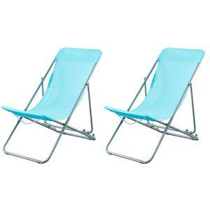 CHAISE LONGUE BEAU RIVAGE Set de 2 chaises relax de jardin Ibisc