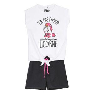 aec16a443d225 PYJAMA LES MINIONS Ensemble Pyjama Licorne T-shirt + Shor