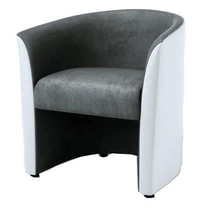 fauteuil cabriolet gris achat vente fauteuil cabriolet gris pas cher cdiscount. Black Bedroom Furniture Sets. Home Design Ideas