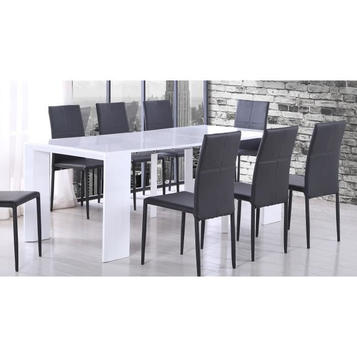 console extensible tack table console extensible 48 250x90cm laqu - Table Console Extensible Blanc Laque