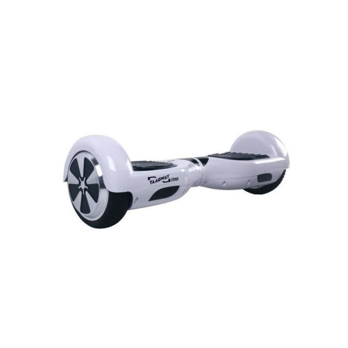 """HOVERBOARD TAAGWAY Hoverboard électrique Star 6,5"""" Blanc - Gy"""