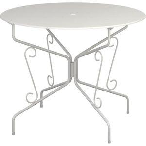 FAUTEUIL JARDIN  Table de jardin romantique en fer forgé avec trou