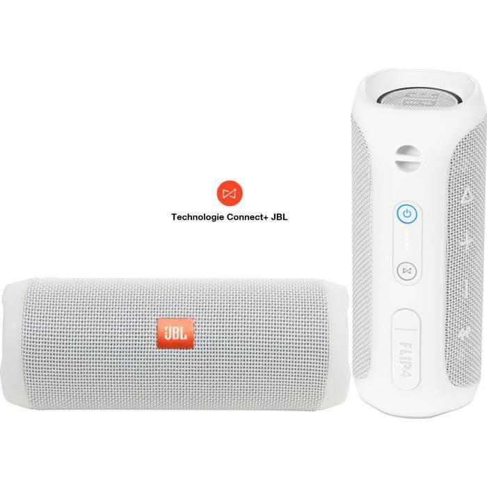 Pack Son - Jbl Flip 4 2 Enceintes Bluetooth Protable Waterproof Blanc