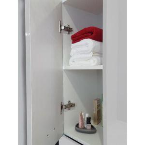 Colonne salle de bain blanc laque achat vente pas cher - Colonne salle de bain blanc laque ...