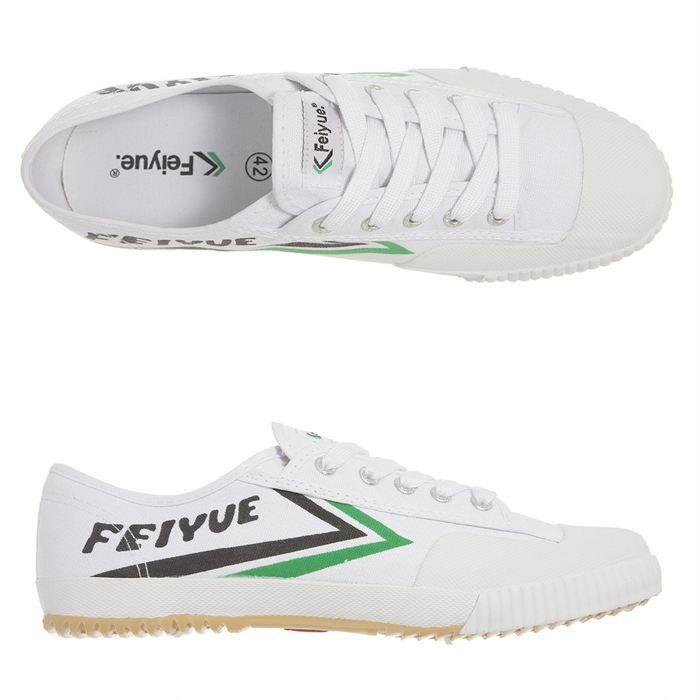 design de qualité f3746 10ac3 FEIYUE Baskets Fe Lo Blanc, noir et vert - Achat / Vente ...