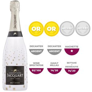 CHAMPAGNE Champagne Jacquart Brut Mosaic Bubbly Sleeve 75 cl