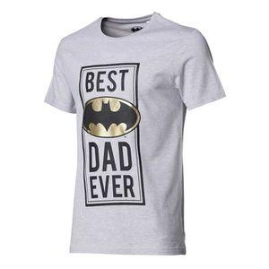 T-SHIRT BATMAN Tee-shirt PAPA manches courtes gris chiné H