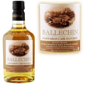 WHISKY BOURBON SCOTCH Ballechin #6 Bourbon 70cl 46° Edradour