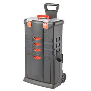 DESSERTE CHANTIER TOOD Servante boite à outils 3 tiroirs en résine 4
