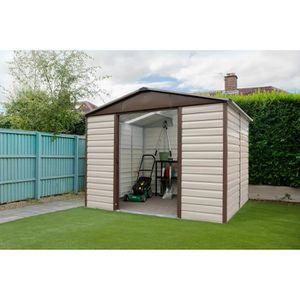 ABRI JARDIN - CHALET YARDMASTER Abri de jardin en métal 4,79m² - Crème