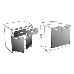 meuble cuisine largeur 15 cm achat vente meuble cuisine largeur 15 cm pas cher cdiscount. Black Bedroom Furniture Sets. Home Design Ideas