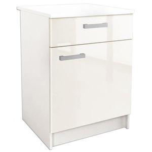 meuble bas largeur 50 cm achat vente meuble bas largeur 50 cm pas cher cdiscount. Black Bedroom Furniture Sets. Home Design Ideas