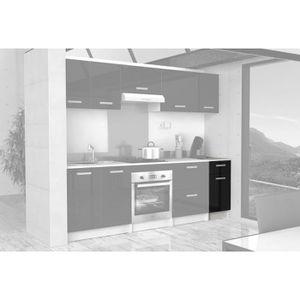 meuble bas cuisine noir laque - achat / vente meuble bas cuisine