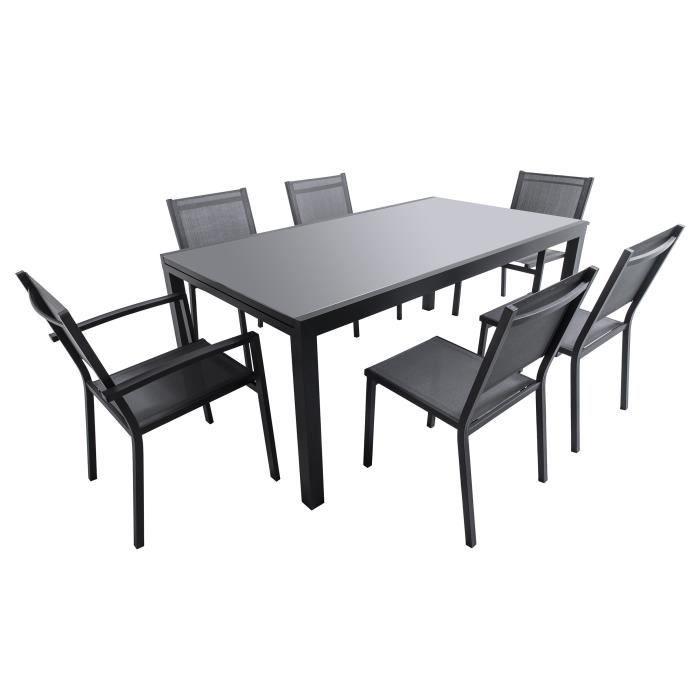Stunning Table De Jardin Extensible En Verre Trempe Contemporary ...