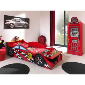 STRUCTURE DE LIT FUN Lit enfant Toddler Race Car+armoire Gas Pump
