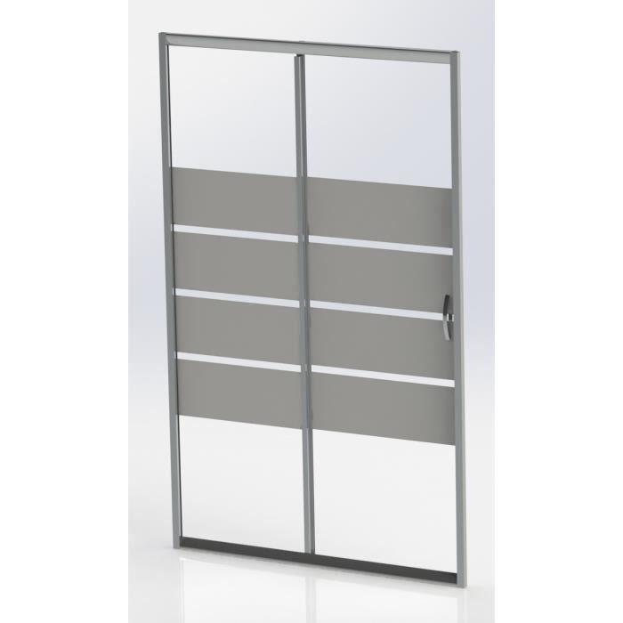 aqua porte de douche coulissante lucy 100 cm verre tremp 5 mm achat vente porte de. Black Bedroom Furniture Sets. Home Design Ideas