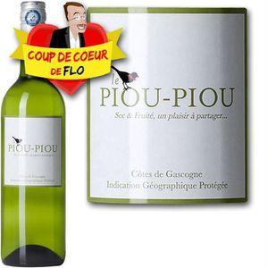 VIN BLANC Piou Piou des Vignes Blanc Sec Gascogne 2012