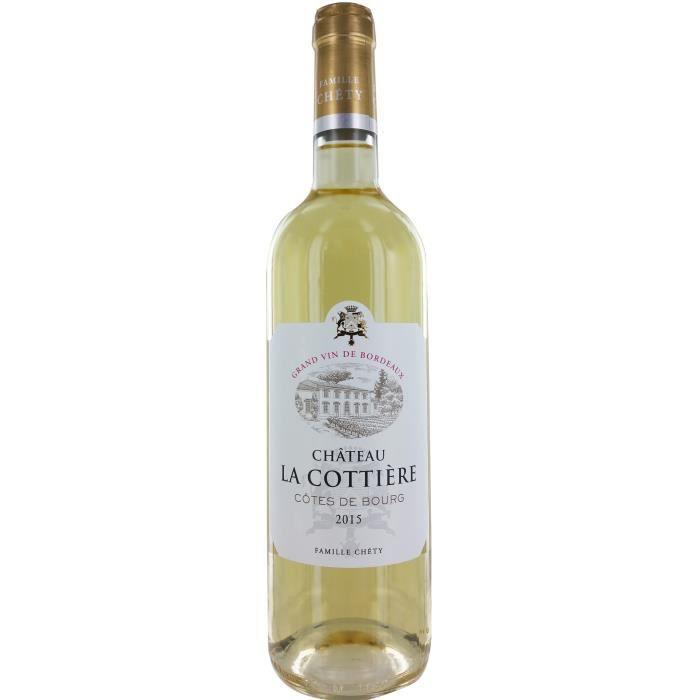 VIN BLANC Château La Cottière 2015 Côtes de Bourg - Vin blan
