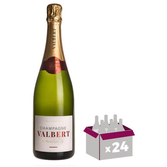 CHAMPAGNE Champagne Valbert Brut - Brut Réserve x24