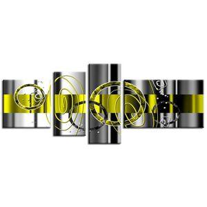 TABLEAU - TOILE HEXOA Tableau multi panneaux abstrait Ledi 160x60