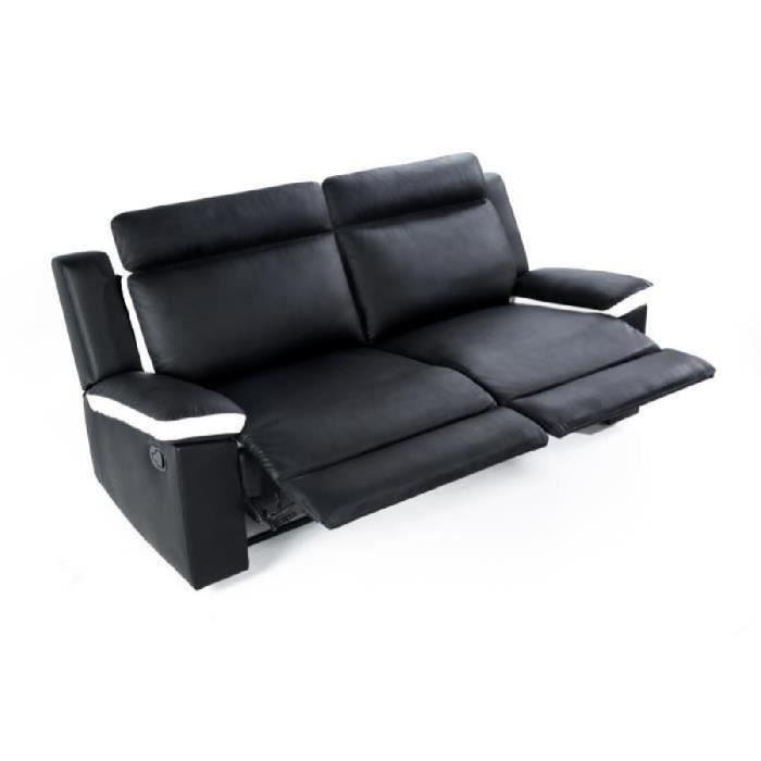 CANAPÉ - SOFA - DIVAN ZEN Canapé de relaxation droit 3 places - Simili n