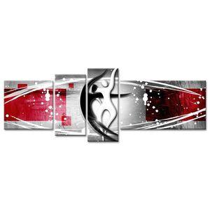 TABLEAU - TOILE HEXOA Tableau multi panneaux abstrait Dance 130x65