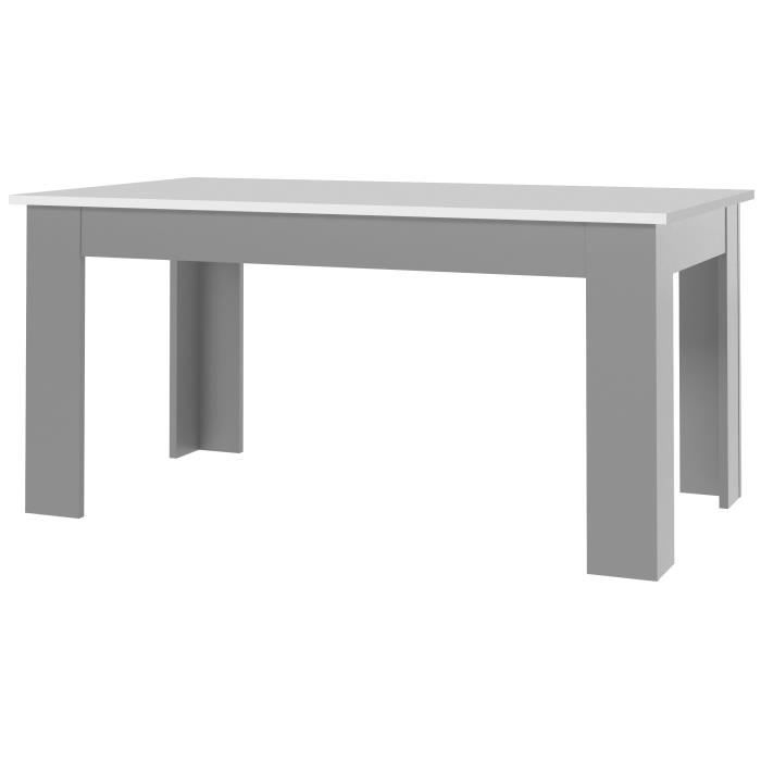 finlandek table manger pilvi de 6 8 personnes contemporain blanc brillant et gris fonc mat. Black Bedroom Furniture Sets. Home Design Ideas