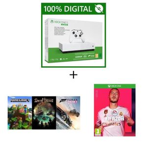 CONSOLE XBOX Xbox One S All Digital 1 To + 5 Jeux : FIFA 20 + M