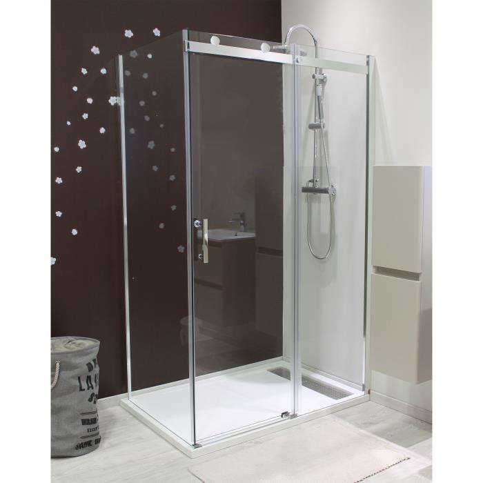 aqua+ porte de douche coulissante 6 mm alico 140 cm - achat